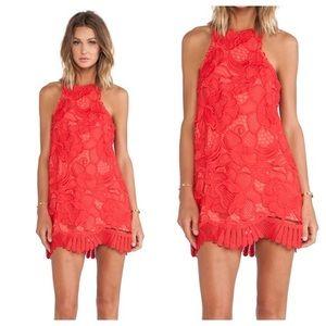 Lovers + friends unworn red lace dress